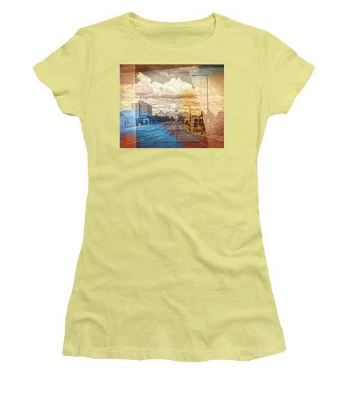 Women's T-Shirt (Junior Cut) featuring the photograph St. Paul Capital Building by Susan Stone