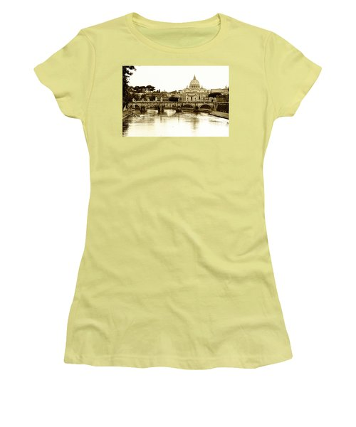Women's T-Shirt (Junior Cut) featuring the photograph St. Peters Basilica by Mircea Costina Photography