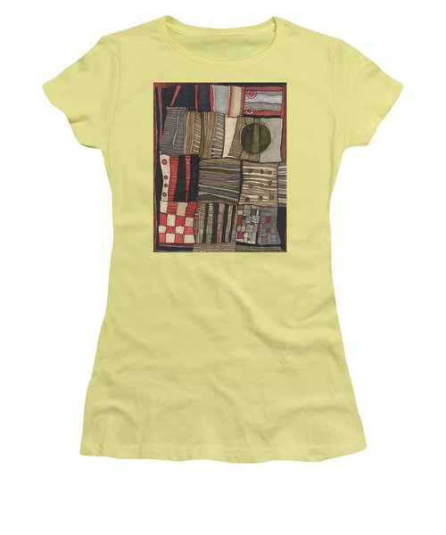Stacked Shapes Women's T-Shirt (Junior Cut) by Sandra Church