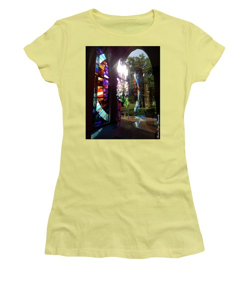 Stained Glass #4720 Women's T-Shirt (Junior Cut) by Barbara Tristan