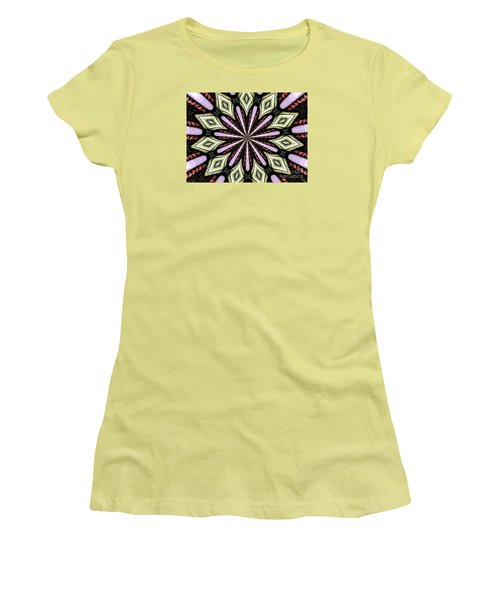 Women's T-Shirt (Junior Cut) featuring the photograph Stained Glass Kaleidoscope 25 by Rose Santuci-Sofranko