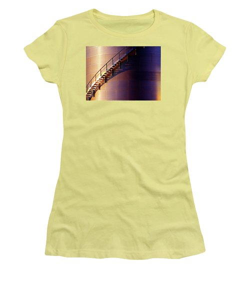 Stairway Abstraction Women's T-Shirt (Athletic Fit)