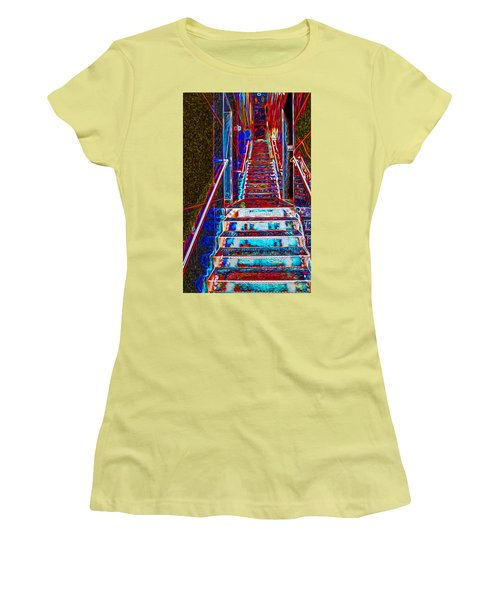 Stairway To Bliss Women's T-Shirt (Junior Cut) by Phil Cardamone