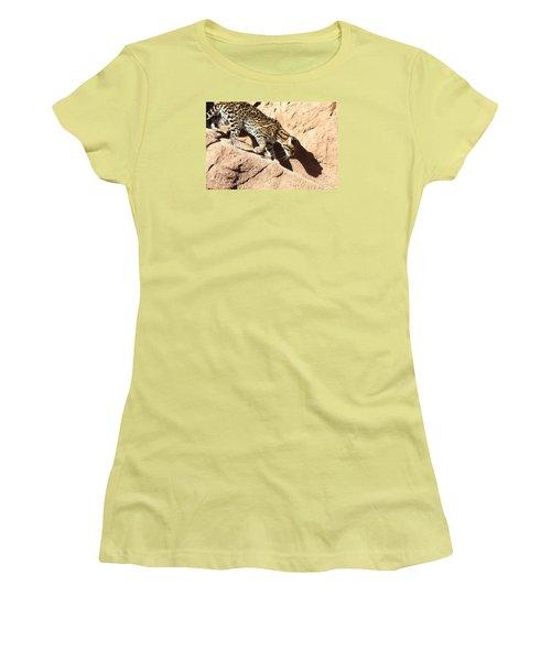 Stalking Ocelot Women's T-Shirt (Athletic Fit)