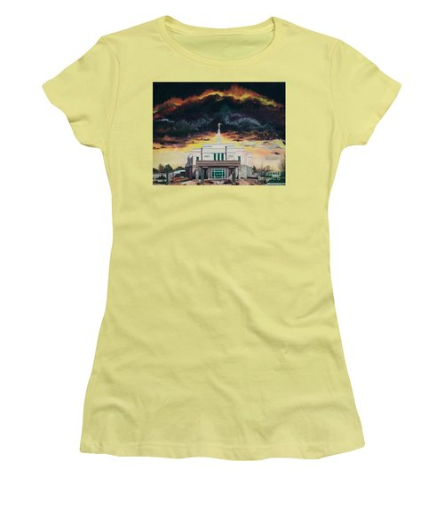 Stand In Holy Places Women's T-Shirt (Junior Cut) by Jane Autry