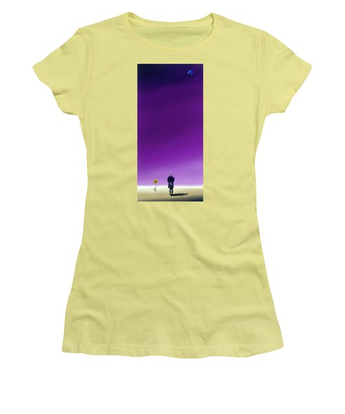 Standing Alone Waiting For The Bowling Balls To Fall When Night Comes Women's T-Shirt (Junior Cut)