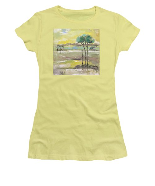 Standing In Distance Women's T-Shirt (Athletic Fit)