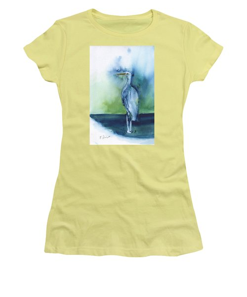 Standing Crane Women's T-Shirt (Athletic Fit)