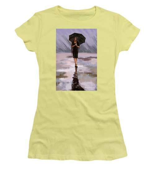 Standing-in-the-rain Women's T-Shirt (Athletic Fit)
