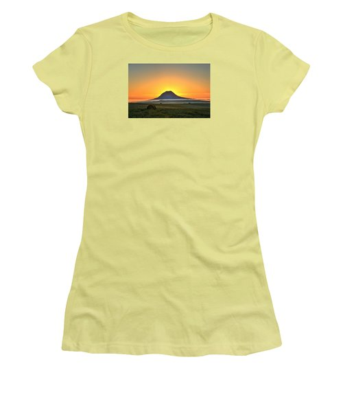 Standing In The Shadow Women's T-Shirt (Junior Cut) by Fiskr Larsen
