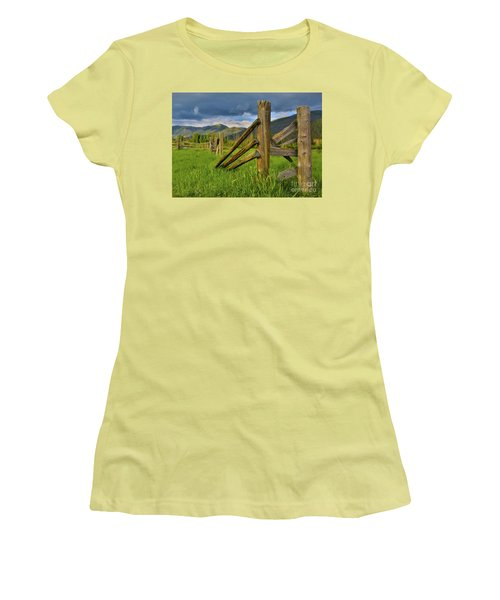 Standing The Test Of Time Women's T-Shirt (Junior Cut) by John Roberts