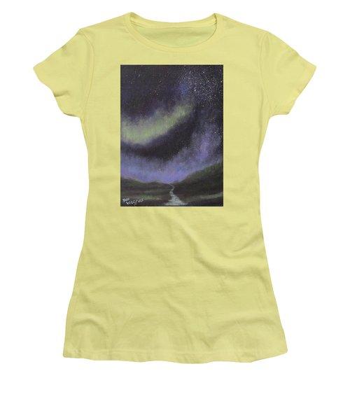 Star Path Women's T-Shirt (Junior Cut) by Dan Wagner