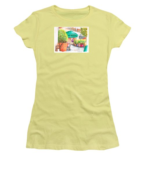 Starbucks Coffee, Sunset Blvd, And Cresent High, West Hollywood, Ca Women's T-Shirt (Junior Cut) by Carlos G Groppa