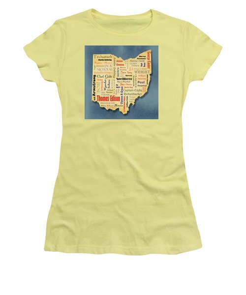States - Famous Ohio Women's T-Shirt (Junior Cut) by Ron Grafe