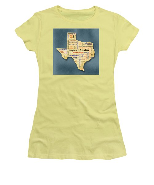 States - Famous Texas Women's T-Shirt (Junior Cut) by Ron Grafe