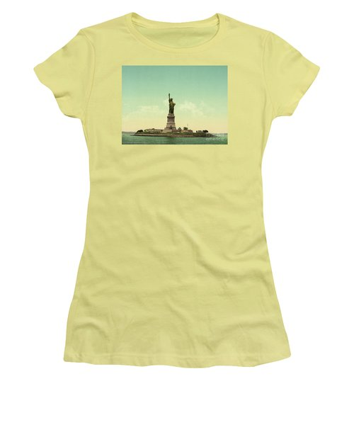 Statue Of Liberty, New York Harbor Women's T-Shirt (Athletic Fit)