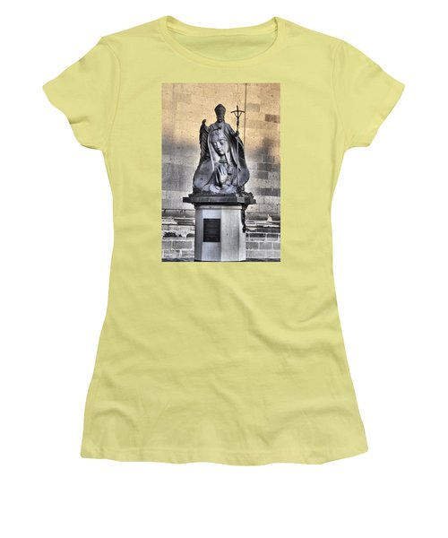 Statue Of Pope John Paul Women's T-Shirt (Junior Cut) by Jim Walls PhotoArtist