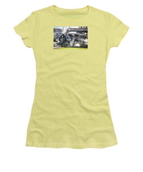 Steam Engine #30 Women's T-Shirt (Junior Cut) by Scott Hansen