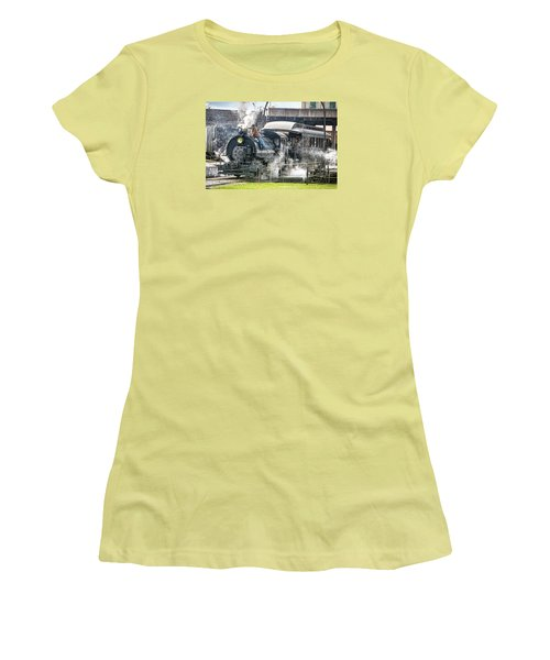 Steam Engine #30 Women's T-Shirt (Athletic Fit)