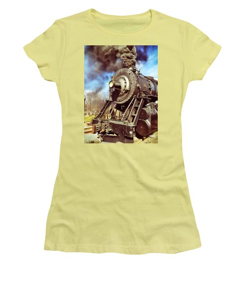 Steam Engine Women's T-Shirt (Athletic Fit)