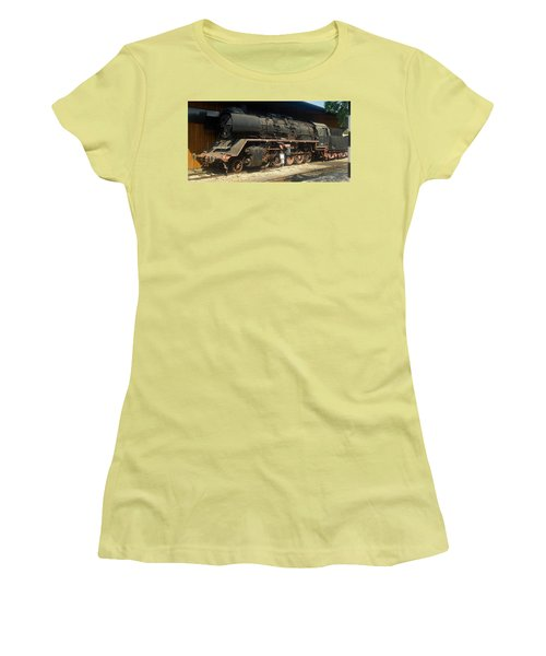 Steam Train  Women's T-Shirt (Athletic Fit)
