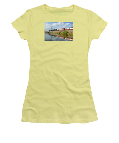 Steam Train Reflections Women's T-Shirt (Athletic Fit)