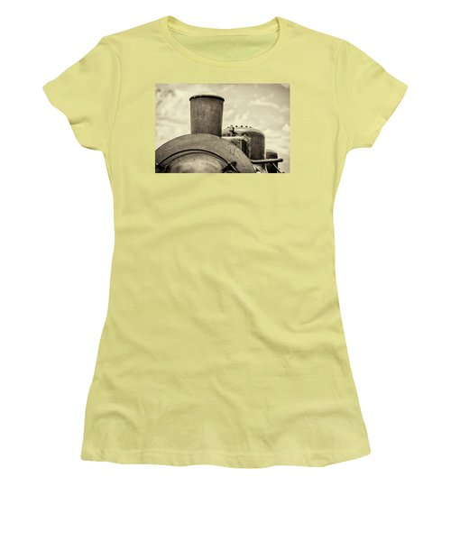 Women's T-Shirt (Athletic Fit) featuring the photograph Steam Train Series No 2 by Clare Bambers