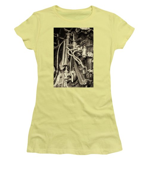 Women's T-Shirt (Athletic Fit) featuring the photograph Steam Train Series No 36 by Clare Bambers