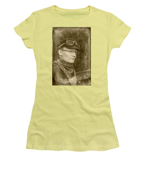 Women's T-Shirt (Athletic Fit) featuring the photograph Steam Train Series No 37 by Clare Bambers