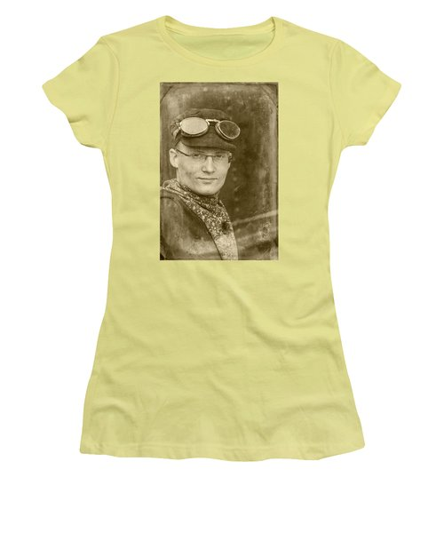 Women's T-Shirt (Athletic Fit) featuring the photograph Steam Train Series No 39 by Clare Bambers