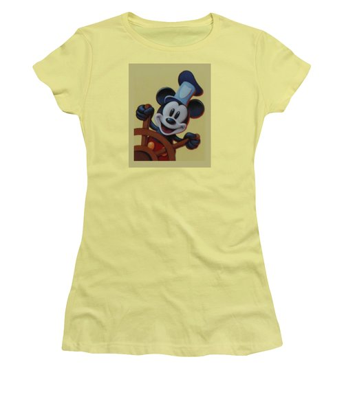 Steamboat Willy Women's T-Shirt (Junior Cut) by Rob Hans