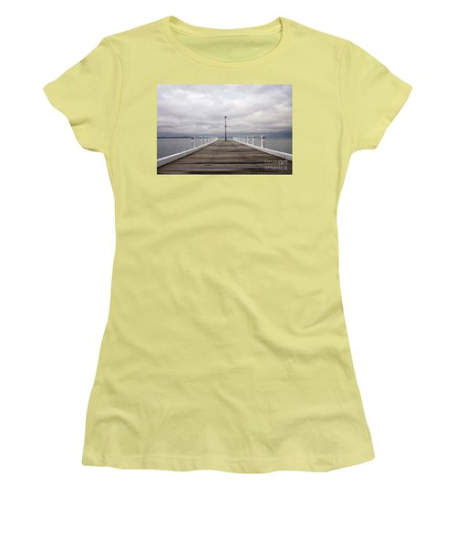 Women's T-Shirt (Junior Cut) featuring the photograph Steampacket Quay by Linda Lees