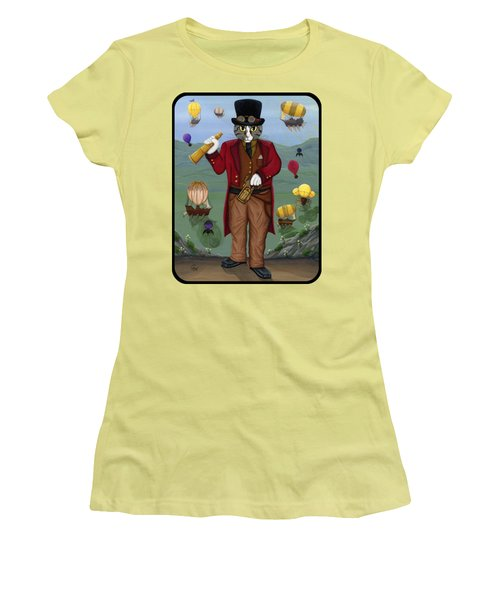 Steampunk Cat Guy - Victorian Cat Women's T-Shirt (Athletic Fit)