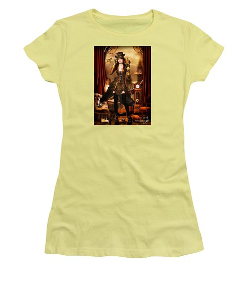 Steampunk Girl Women's T-Shirt (Athletic Fit)