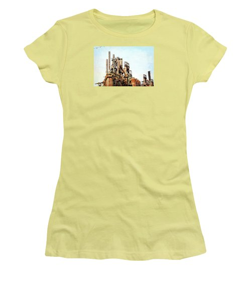 Steel Stack Blast Furnaces Women's T-Shirt (Athletic Fit)