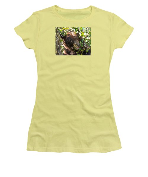 Women's T-Shirt (Junior Cut) featuring the photograph Step Away From The Berries by Yeates Photography