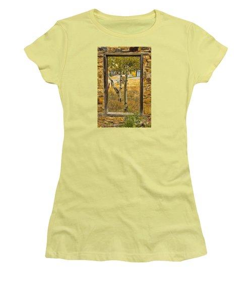 Step Through Women's T-Shirt (Junior Cut) by Steven Parker