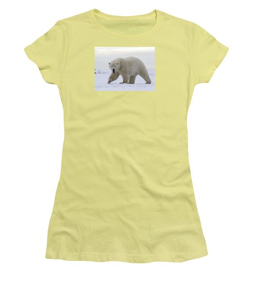 Stepping Out In The Arctic Women's T-Shirt (Athletic Fit)