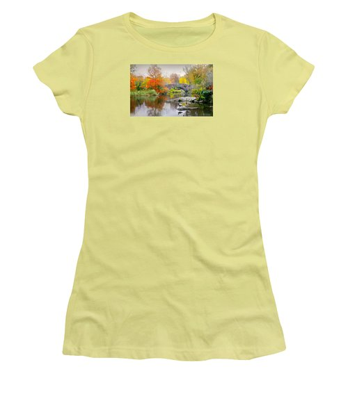 Stepping Stones Women's T-Shirt (Junior Cut) by Diana Angstadt