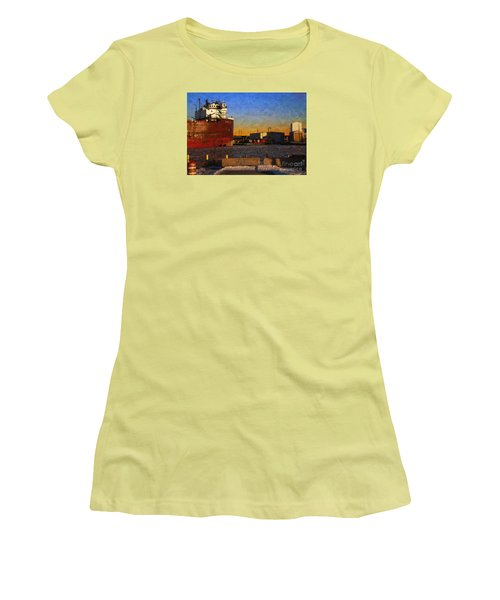 Stewart J. Cort Women's T-Shirt (Junior Cut) by David Blank