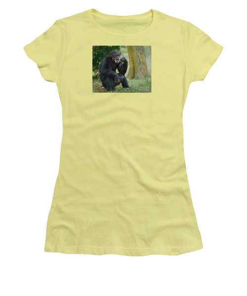 Women's T-Shirt (Junior Cut) featuring the painting Sticks And Stones by Judy Kay