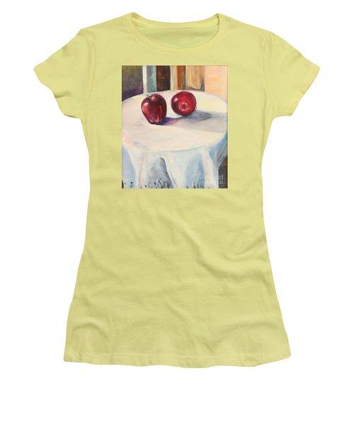 Still Life With Apples Women's T-Shirt (Junior Cut) by Daun Soden-Greene