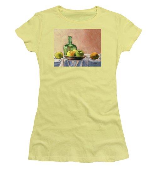 Still Life With Bottle Women's T-Shirt (Junior Cut)