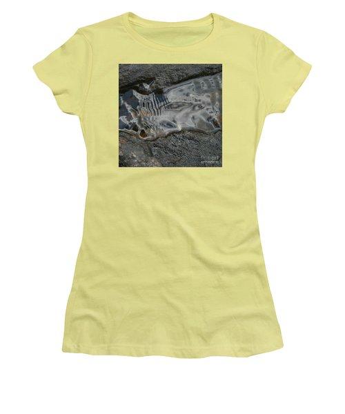 Women's T-Shirt (Athletic Fit) featuring the photograph Still Stream Skeleton Screams by Carol Lynn Coronios
