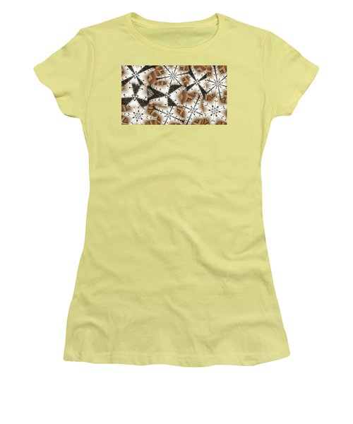 Women's T-Shirt (Junior Cut) featuring the digital art Stitched 3 by Ron Bissett