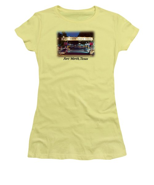 Stock Yards Sign T-shirt Women's T-Shirt (Athletic Fit)