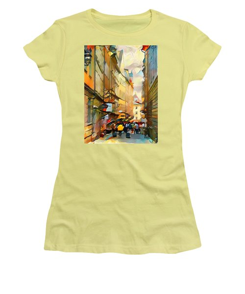 Stockholm Galmastan Town 9 Women's T-Shirt (Athletic Fit)