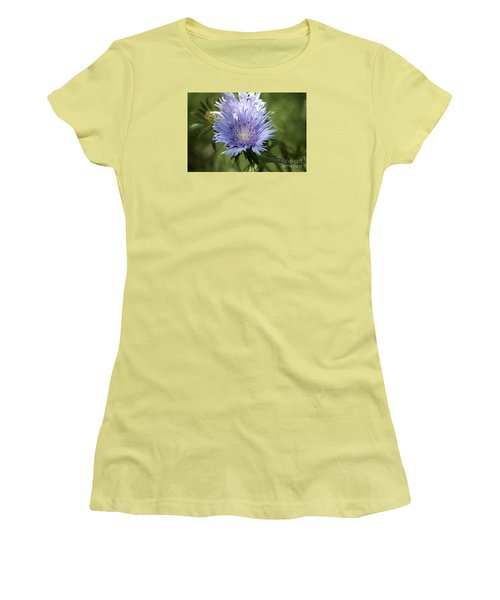 Stokes Aster 20120703_125a Women's T-Shirt (Junior Cut) by Tina Hopkins