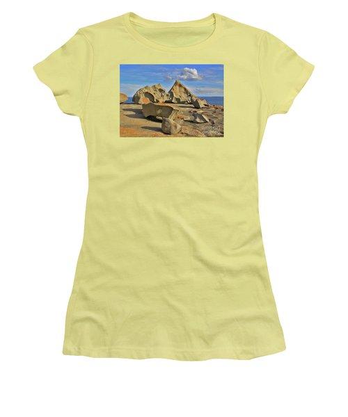 Women's T-Shirt (Junior Cut) featuring the photograph Stone Sculpture by Stephen Mitchell