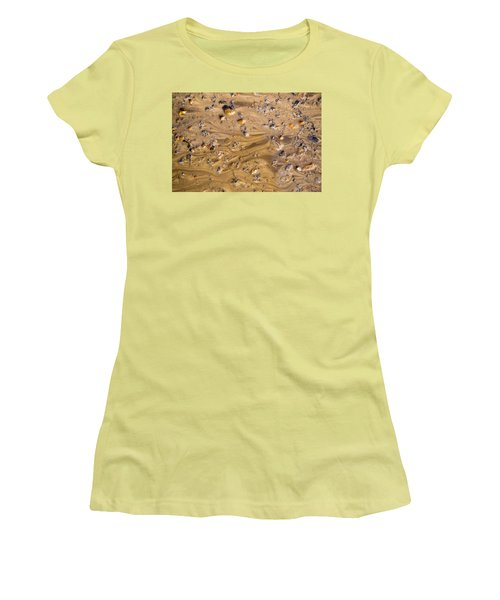 Women's T-Shirt (Junior Cut) featuring the photograph Stones In A Mud Water Wash by John Williams